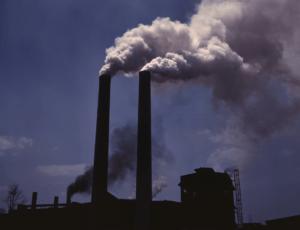factory releasing smoke