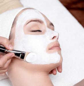 white mask on woman