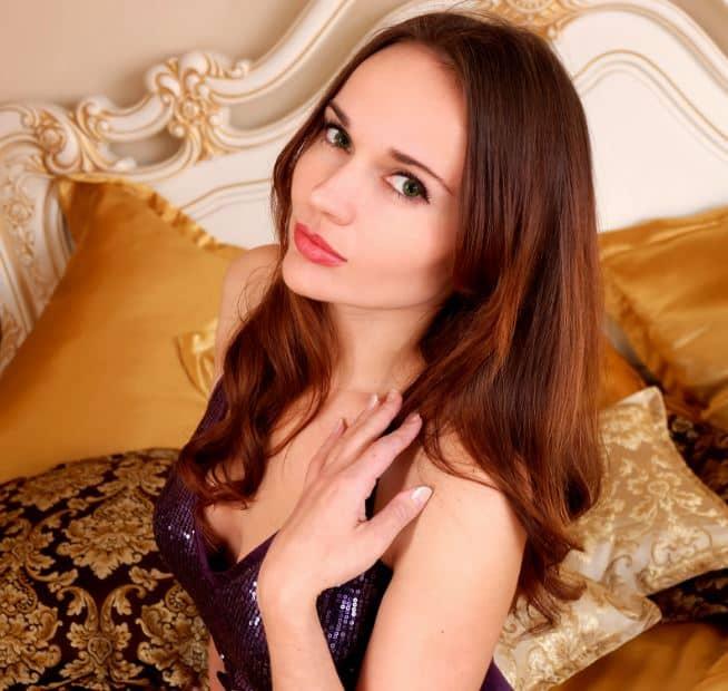 model in bedroom