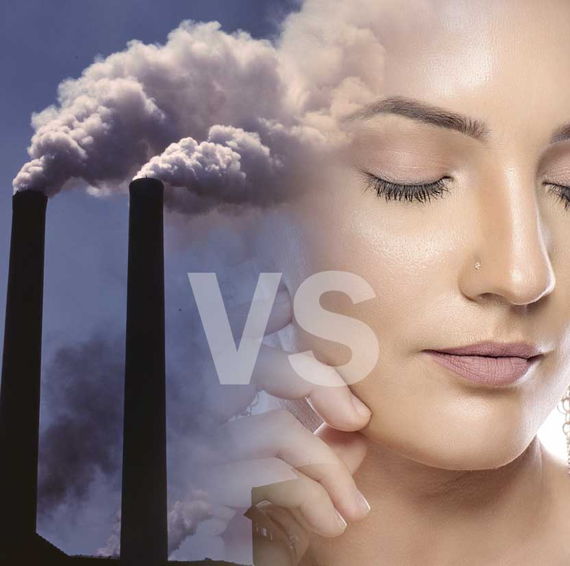 pollution against your skin