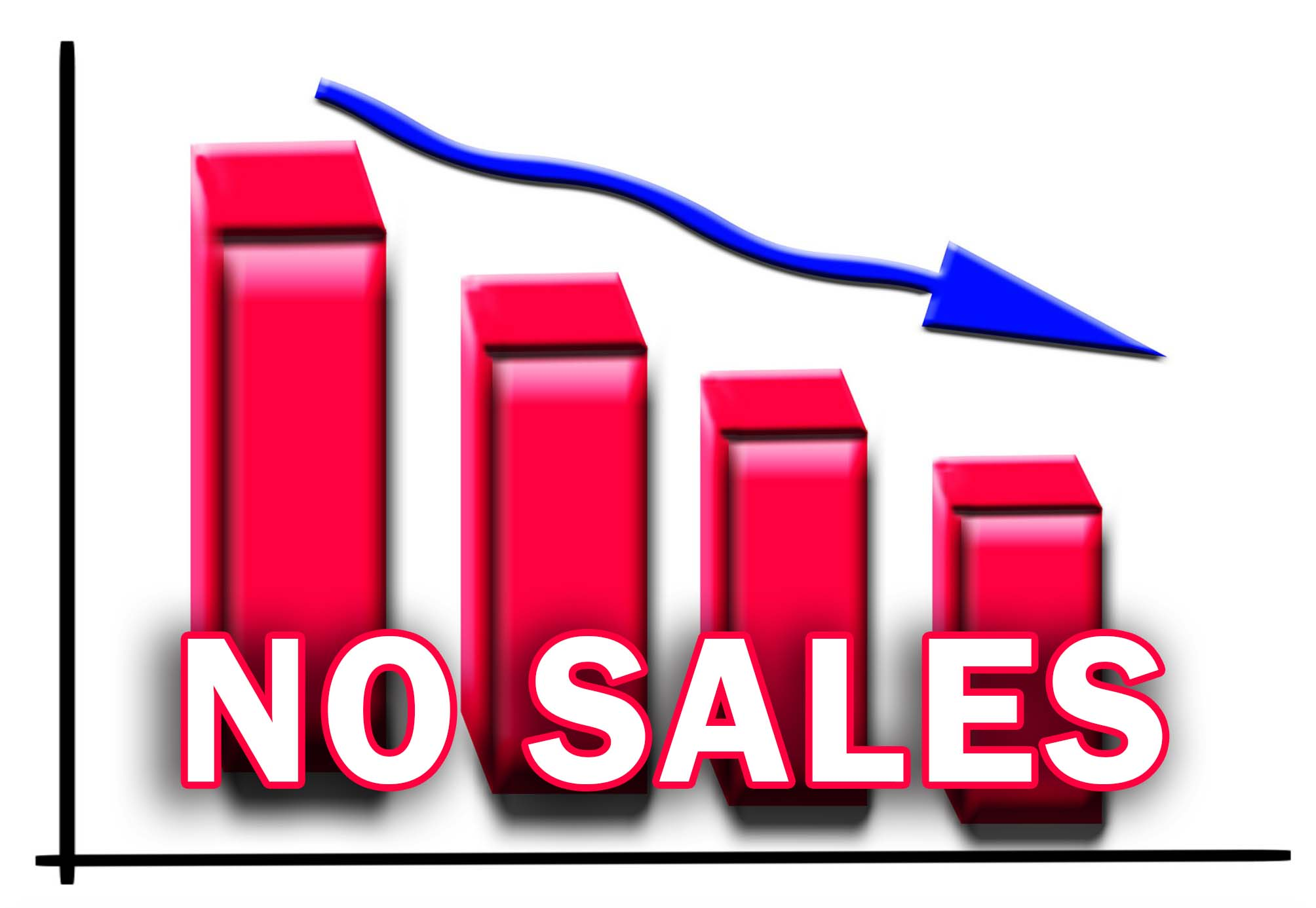 down sale negative graph